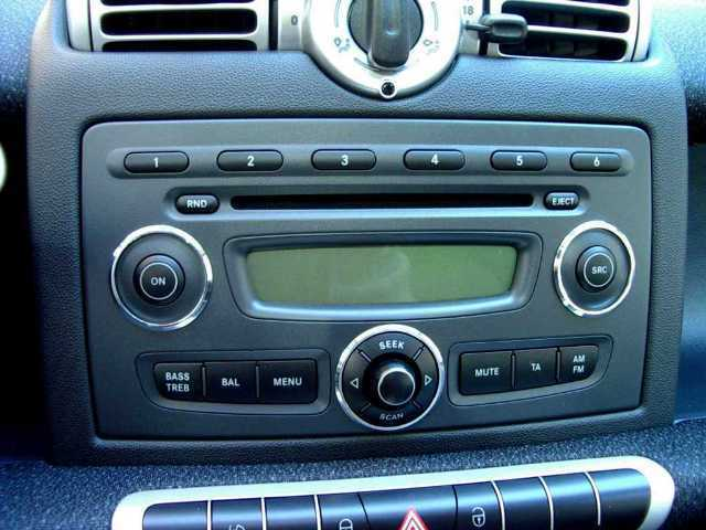 smart fortwo 451 ornamental ring for radio volume control. Black Bedroom Furniture Sets. Home Design Ideas