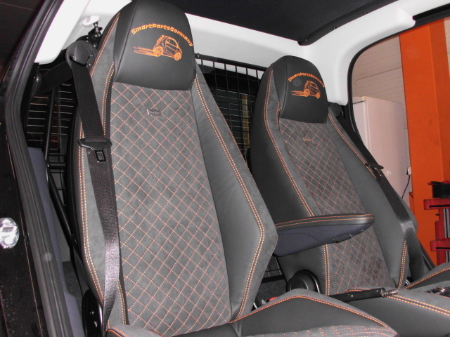 Leather Seat Covers For Seriell Seats Smart Fortwo 451